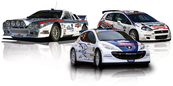 Rally coppia paraspruzzi anteriori posteriori Blu